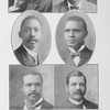 Representative Negroes; George W. Crawford, Attorney, New Heaven, Conn.; A.C. Garner, Pastor, Washington, D.C.; H.H. Proctor, Pastor, Atlanta, Ga; J.W. Work, Professor, Fisk University; Wm.N. DeBerry, Pastor, Springfield, Mass.; Geo.W. Moore, Supt. of Negro Church Work, American Missionary Association.