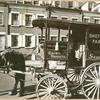Milk wagon and old houses, Grove Street, No. 4-10, Manhattan.