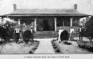 A Negro country seat; The home of Scott Bond.