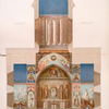 Stennaia zhivopis' v Sionskom sobore , v Tiflise, ispolnennaia v 1853-1854 g. Poperechnyi razrez sobora