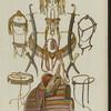 Persidskiia sabli, kinzhal i khivinskiia konskie sbrii (khromolitografiia)
