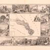 Karta Sviatoi Afonskoi gory  s kartinami monastyrei ( Efimova i Frena)