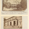 "The Emperor's ""Cottage,"" Alexandria Park, Peterhoff. ""Alexandria"" adjoins the Lower Park (attached to the Old Palace) contains the famous fountains; Entrance to the New Hermitage (Picture Gallery), St. Petersburg."
