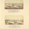 Moscow. Panoramic view of the City (and Kokoreff Hotel); Moscow. General view of the Kremlin (taken from the wovden bridje [sic].) [Photographer: I. Daziaro]