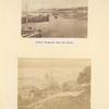 Nizhnii Novgorod from the river. [two images]