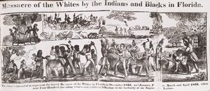 Massacre of Whites by Indians and Blacks in Florida.