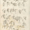 [Studies of dogs and horses.]