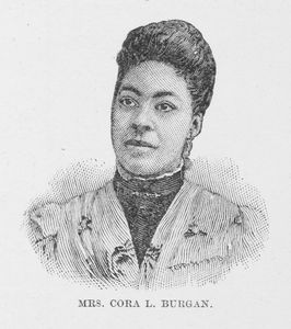 Mrs. Cora L. Burgan (nee Moore). Pianist and Teacher.