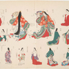 An illustration of women's costumes.