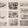 Variety of old Japanese ships