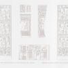 Dekkeh. Halb-erhobene Arbeit auf der Forderseite der Vorhalle. = Déquet [Deqqeh]. Bas-reliefs sculptures sur la face du portique.
