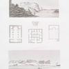 Ibrihm. A. Ansicht der Burg; B. Ansicht von Gustun; C. Grundriss eines Hauses und zwei koptische Kirchen. = Ibrime. A. Vue du bourg; B. Vue de Gouston; C. Plans d'une maison et de deux éclises copte.