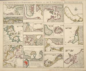 Les principales forteresses, ports &c. de l'Amerique septentrionale.