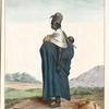 Femme Wolof portant son enfant.