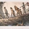 Sauvages civilisés soldats indiens de la province de la Coritiba, ramenant de sauvages prisonniéres.