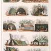 Différentes formes de huttes des sauvages bréziliens [brésiliens].