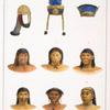 Coiffures, et suite de têtes de différentes castes sauvages. [4. Miranha; 5. Coroado de la province de Goyas; 6. Mundrucù (Mondroucou); 7. Arara; 8. Boronò; 9. Yupuà (Youpoua)].