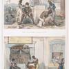Les barbiers ambulants [above]; Boutique de barbiers [below].