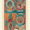 Detali stenopisi sobora Rozhdestva Presviatoi Bogoroditsy v gorode Suzdale, Vladimirskoi gubernii