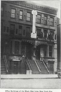 Office buildings of the Black Star Line, New York City.