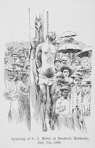 Lynching of C.J. Miller, at Bardwell, Kentucky, July 7th, 1893.