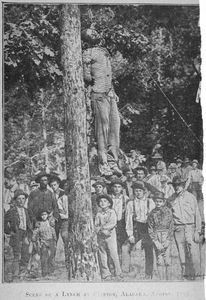 Scene of a lynch at Clinton, Alabama, August 1891.