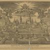 1768 g.Vid Solovetskago monastyria s obrazom Preobrazheniia vverkhu I prepodobnymi Eleazarom, Irinarkhom, Filippom, Zosimoiu, Savvatiem i Germanom.