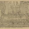 1825 g. Vid Solovetskago monastyria, vverkhu prepodobnye Zosima i Savvatii derzhat ikonu Preobrazheniia Gospodnia.