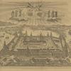 1827 g. Vid Solovetskago monastyria, vverkhu dva angela  derzhat ikonu Preobrazheniia ,pered neiu sviatye: Eleazar', Irinarkh, Filipp, Zosima, Savvatii, German.