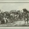 Le Marche aux Cochons geles, d'apres A.Ostrowski.
