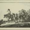 Des Postillons revenant d'une poste sur leurs chevaux