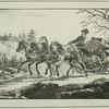 Voyageurs en Kibitka, grand traineau, a 3 chevaux.