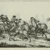 Telegue d'ete, a 3 chevaux, d'apres Swebach.