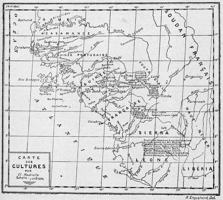 Carte des cultures.
