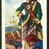Le Capitaine Kidd enfouit son trésor.