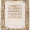 Ketubbah, Casale Monferrato, 1630].