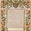 Ketubbah. Acqui Terme, 1779].