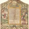 Ketubbah. Nizza Monferrato, 1782].