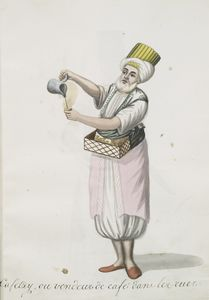 Cafetzy [kahveji], ou vendeur ... Digital ID: 1239202. New York Public Library