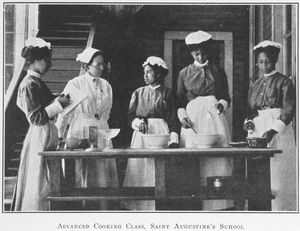 Advanced cooking class; Saint Augustine's School; [Raleigh, North Carolina.]