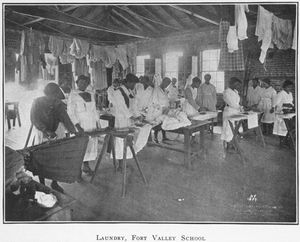 Laundry; Fort Valley School; [Fort Valley, Georgia.]