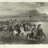 Armenie. Tribu kurde passant un gue sur L'arax.