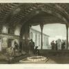 Armenie. Salle des Miroirs dans le palais du sardar D'Erivan.
