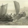 Cotes de la Mer Noire. Cosaques d'Azof abordant un corsaire Turc.