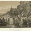 Tiflis.Pelerinage de femmes a l'eglise de Petghain (Bethleem).