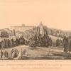 Progulka Imperatritsy Ekateriny II v sadakh Tsarskago Sela (Zdanie s kupolom-pavilion Katalnoi Gory)