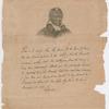 Lafayette, James Armistead [Facsimile of the Marquis de Lafayette's original certificate commending James Armistead Lafayette for his revolutionary war service with portrait after John B. Martin.]