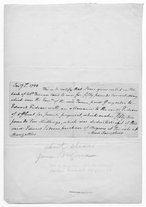[Receipt of payment for slaves. Dated January 1, 1788 and signed by Moore Fauntleroy.]