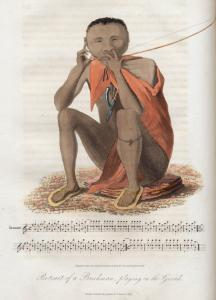 Portrait of a Bushman playing on the Gorah