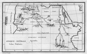 Afrique Centrale Selon Ptolemee.